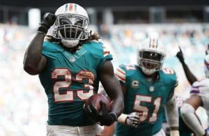 Jay Ajayi and Mike Pouncey