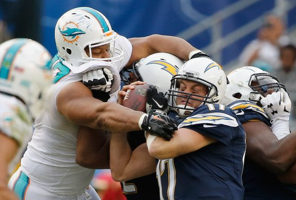 Ndamukong Suh and Philip Rivers