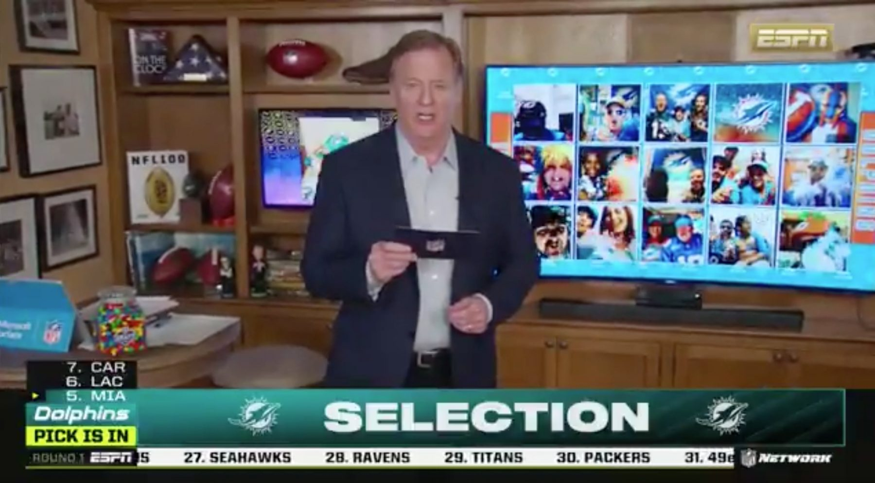 Roger Goodell Miami Dolphins