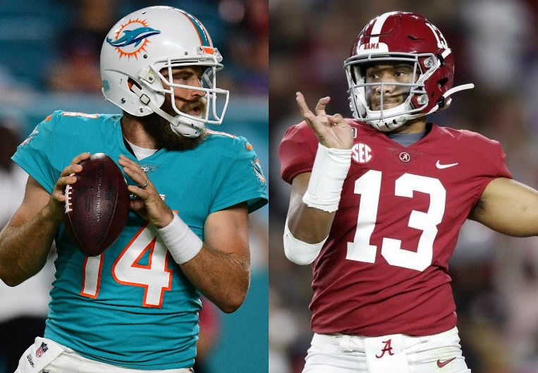 Ryan Fitzpatrick and Tua Tagovailoa