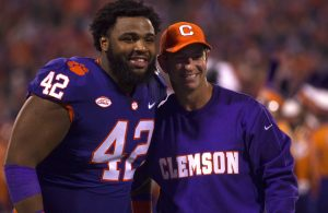Christian Wilkins and Dabo Swinney
