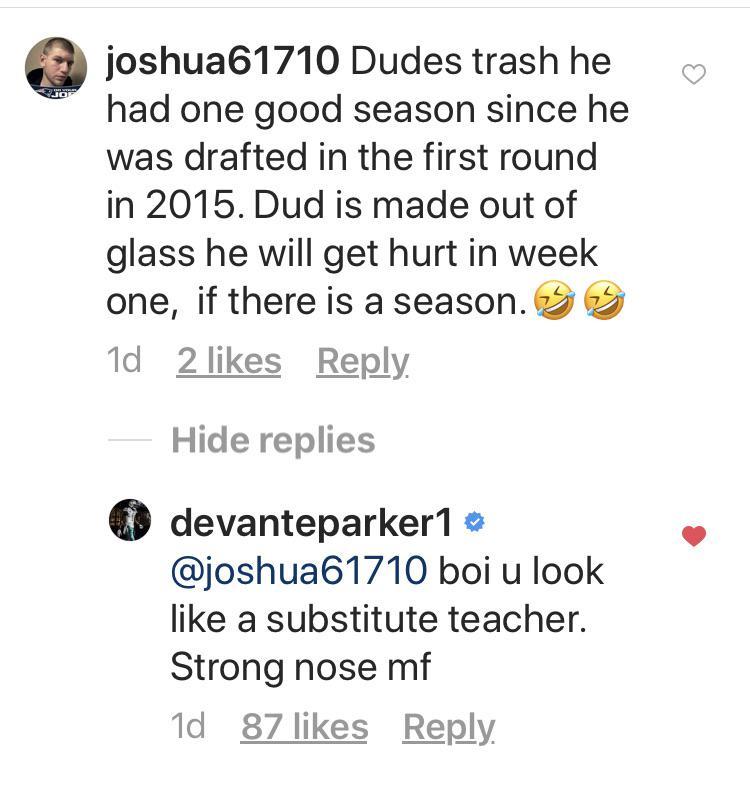 DeVante Parker Social Media