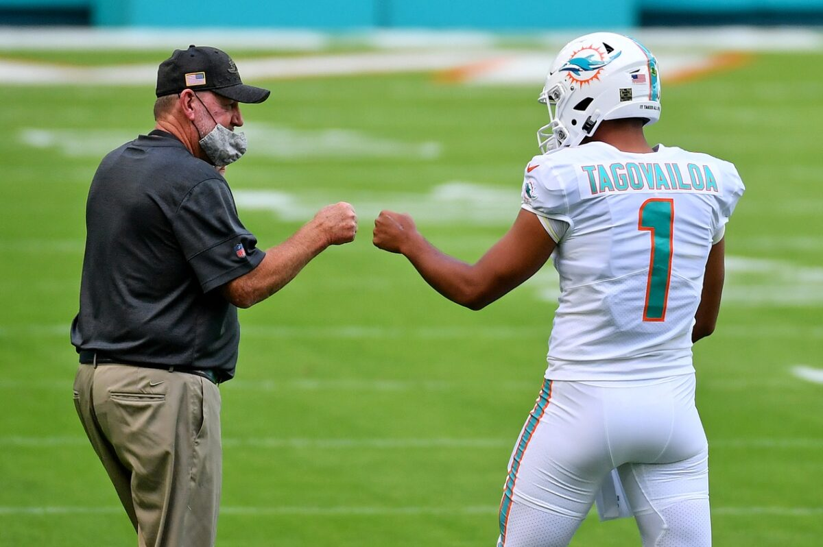 Chan Gailey and Tua Tagovailoa