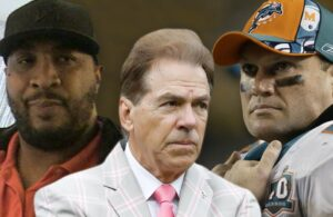 Daunte Culpepper, Nick Saban and Zach Thomas
