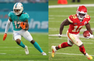 Jaylen Waddle and Tyreek Hill